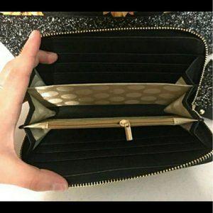 Kate Spade sunflower glitter purse